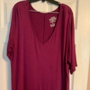 Torrid Size 3 Berry Colored Super Soft Tunic Tee